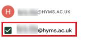 HYMS calendar option on Android