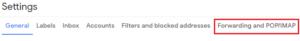 forwarding tab gmail