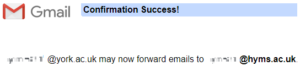gmail success message