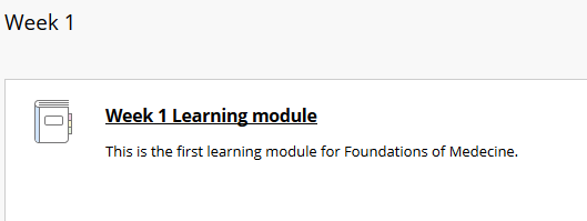 link to learning module/ resource learning unit