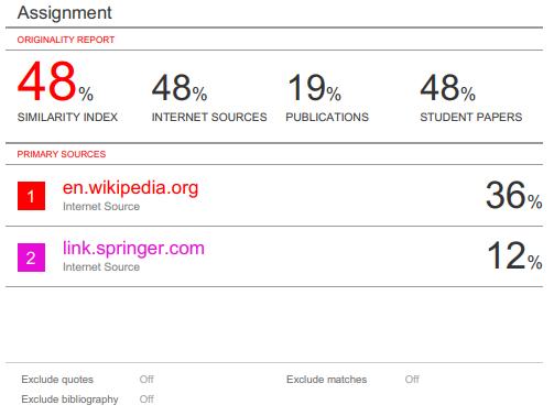screenshot of downloaded originality report