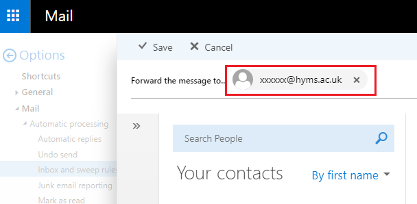 screenshot of text box to enter email address
