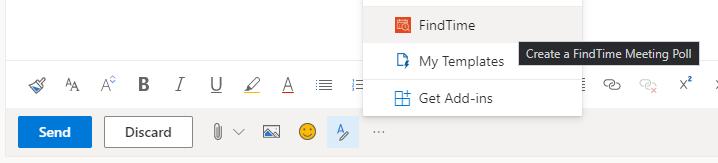 FindTime toolbar option