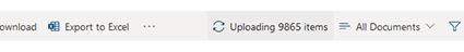 view upload status