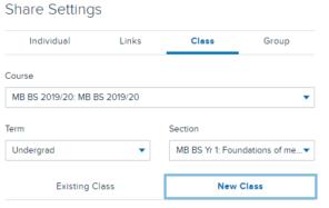 Echo360 class settings fields