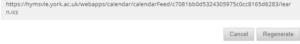 Blackboard calendar link URL