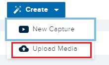 Echo360 upload media option