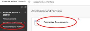link to assessments folder