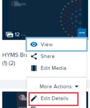 Ech360 edit details option
