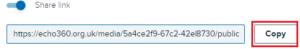 Echo360 copy a link option