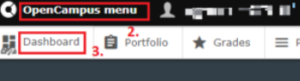OpenCampus online dashboard tab