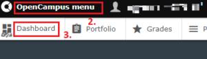 OpenCampus dashboard tab