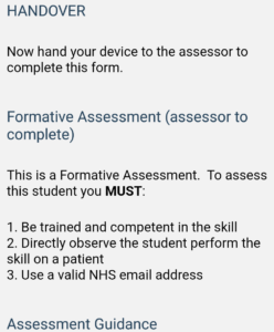 OpenCampus app example formative form