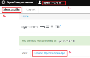 connect to OpenCampus app option