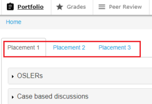 OpenCampus placement tab