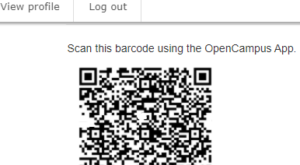 OpenCampus QR code