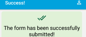OpenCampus success message form submitted