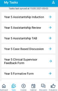 OpenCampus app tasks list